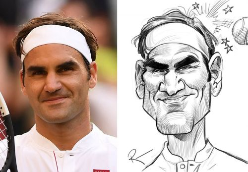 Sketch o'the Week- Roger Federer!