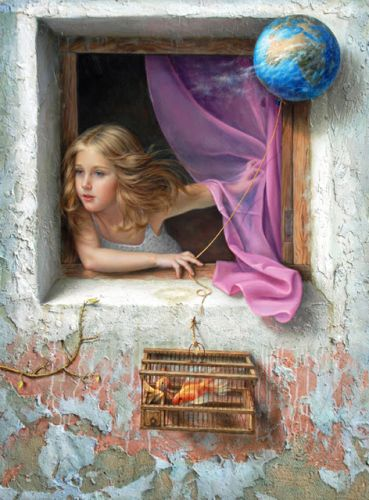 Crossconnectmag: Magical Realism Paintings from Alex