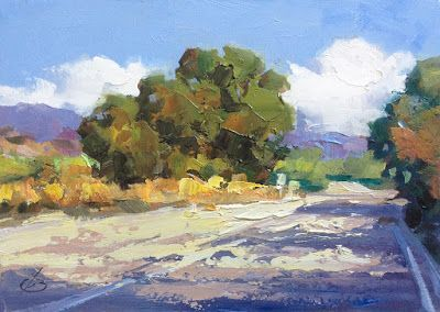 A COLORFUL LANDSCAPE by TOM BROWN