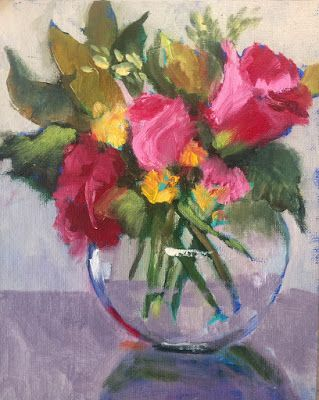 "Contemporary Floral, ""Rose Bowl,"" by Amy Whitehouse"
