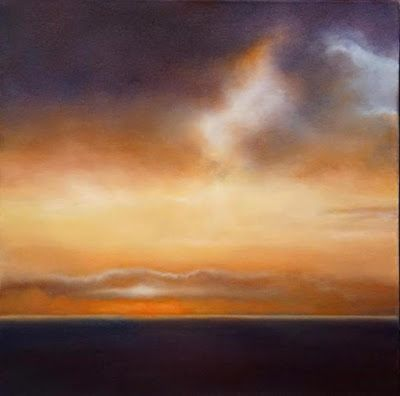 "Abstract Landscape Painting, Sunset "" Primary Sunset"