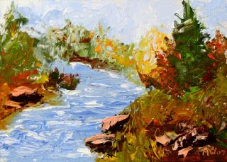 Mark Webster - Palette Knife Landscape Oil Painting 242
