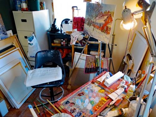 "My Working Studio, ""The Dog House"""