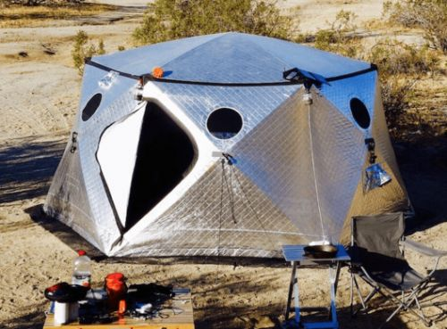 Prefab Pop-Up Shelter Designed for Burning Man and Perfected for Disaster Relief