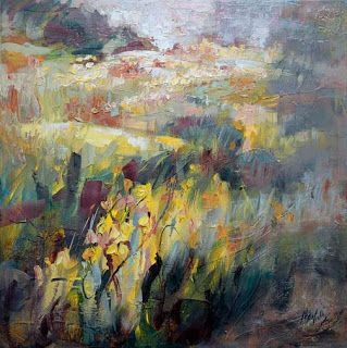 """""""Nature's Brushstrokes II"""" Abstract Wildflower Painting by Niki Gulley"""