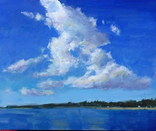 Summer Skies, 8x10 inch Acrylic painting by Kelley MacDonald