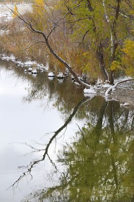 "Fall Landscape,Colorado Landscape, Water Reflections, Fine Art Photography,""Snow Left Behind"" by International Photographer Kit Hedman, Boarding House Studio Galleries, Denver"