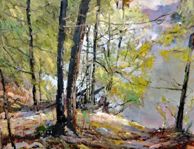 Summer Cedars On Park Creek -Painting 700
