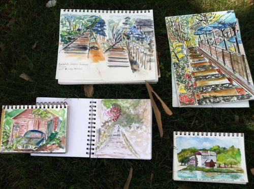 Sketching in Lambertville and Stockton, July 19
