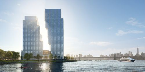 OMA's Dancing Towers will Revive Brooklyn's Post-Industrial Waterfront