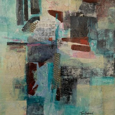 """Mixed Media, Abstract Art, Contemporary Painting, Expressionism, """"Ancient Secrets"""" by Contemporary Artist Tracy Lupanow"""