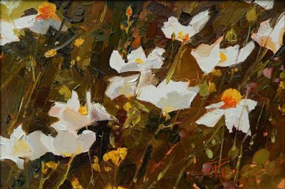 """Poppy Dance"" Plein air poppy painting by Robin Weiss"