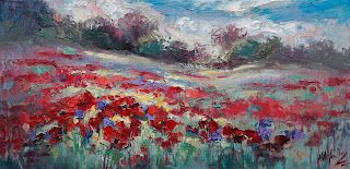 """New """"Popping Sunshine"""" by Contemporary Impressionist Niki Gulley"""