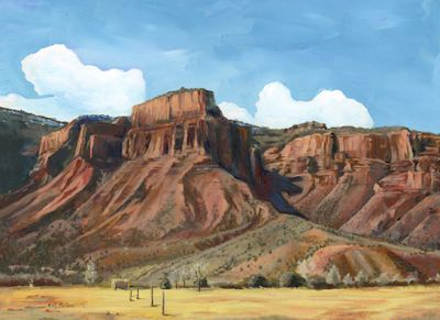 "Original Colorado Landscape Painting ""OCTOBER AFTERNOON ON THE REDLANDS"" by ColoradoArtist Nancee Jean Busse, Painter of the American West"""