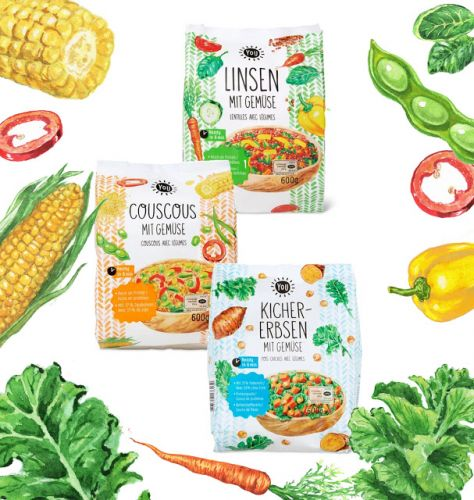 New YoU Products With Watercolor Food Illustrations On Packaging