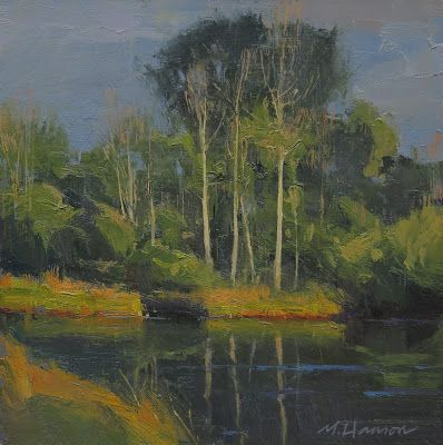 "DPW Auction: Afternoon Aspens - oil - 8""x8"" - SOLD!"