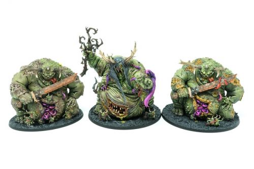 Showcase: Great Unclean Ones of Nurgle - Trio of Rot by Silvernome