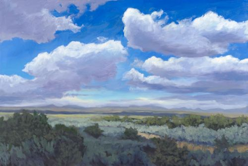 Skyscape near taos, new mexico by painter dawn chandler