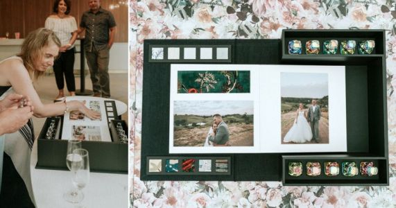 Blind Bride Gets Tactile Wedding Photo Album to Remember Her Special Day