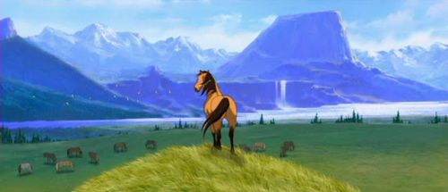 Spirit, Stallion of the Cimarron Scene