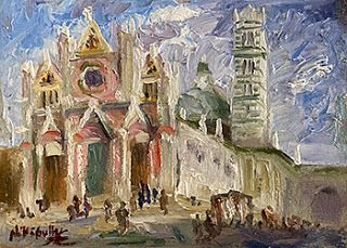 Siena, Italy Painting by Contemporary Impressionist Niki Gulley