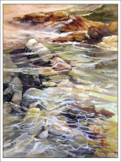 Tidal Interruption..Pastel..Texas Artist..Rae Andrews