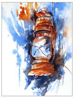 Old Timer..Watercolor..Texas Artist..Rae Andrews