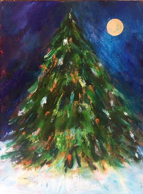 "Holiday Art, ""Moonlit Tree,"" by Amy Whitehouse"