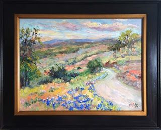 "New ""Over the Hills II"" Bluebonnet Painting by Texas Artist Niki Gulley"
