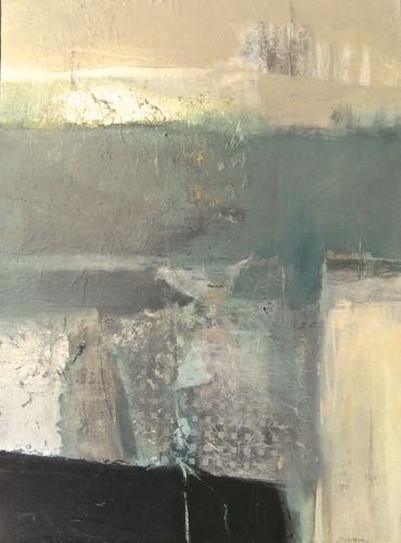 """Contemporary Abstract Mixed Media Painting """"Possibility"""" by Intuitive Artist Joan Fullerton"""