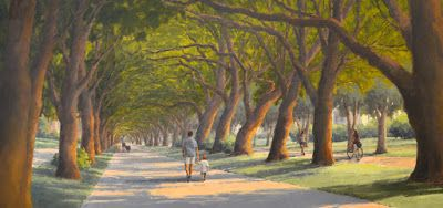 Tunnel of Trees - 3rd of Three 10-ft paintings, and a Commission Reveal Party!!