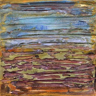 """BOGO - Mixed Media Abstract Painting,Contemporary Art """"Counting Time"""" by Santa Fe Contemporary Artist Sandra Duran Wilson"""