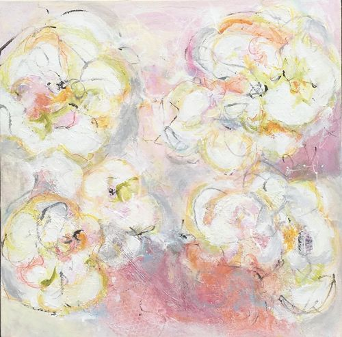 "Contemporary Abstract Expressionist Painting ""TO BLOOM"" by Abstract Artist Pamela Fowler Lordi"