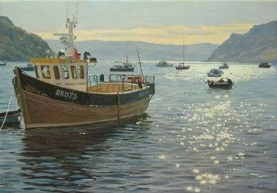 Sparkling Early Light, Portree Harbour