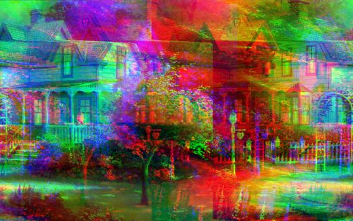 """For Kevin: """"Can't Get You Out of My Head"""" Embedded in a Thomas Kinkade JPG"""