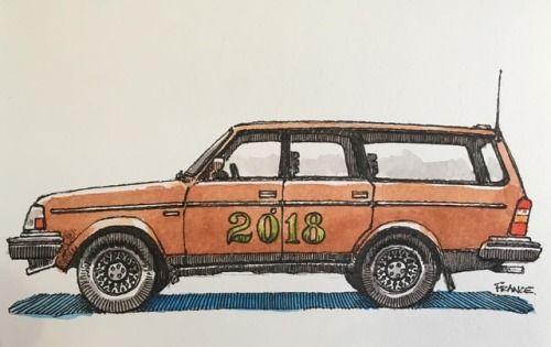 Happy new year! May all gorgeous Scandinavian wagons rest on