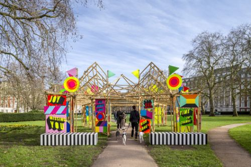 See Through Bamboo Installation / Morag Myerscough