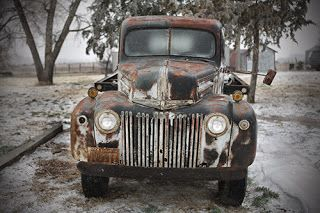 "Vintage Truck Photograph ""Truck-Cope"" by Colorado Photographer Kit Hedman, Boarding House Studio Galleries,Denver"