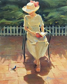 WOMAN READING, FIGURATIVE by TOM BROWN