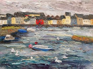 """""""The Long Walk"""" from Galway by Contemporary Impressionist Niki Gulley"""