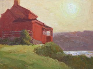 The Red House at Sunset 2