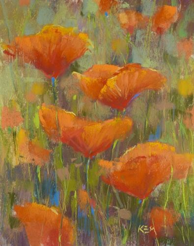 Four Steps to a California Poppy Painting