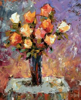 "Roses Floral Fine Art Print Art Flowers Paintings Still Life ""Roses"" by Debra Hurd"