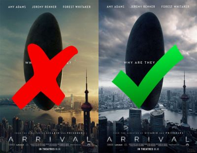 'Arrival' Movie Poster Mocked for Embarrassing Photoshop Fail