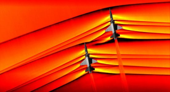 NASA Shot the First Pics of Supersonic Jet Shockwaves Interacting