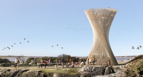 White Arkitekter Create Lattice Observation Tower in Sweden
