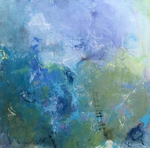 "Contemporary Abstract Expressionist Painting ""UP"" by Abstract Artist Pamela Fowler Lordi"