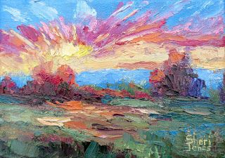 First Blast of Light, New Contemporary Landscape Painting by Sheri Jones