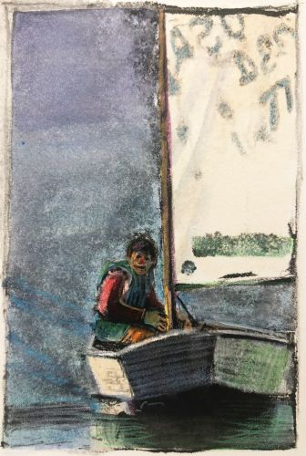 How to Make Monotype Prints from a Plastic Blueberry Container