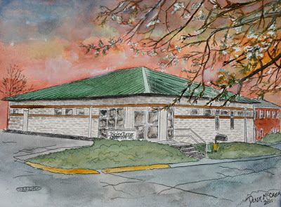 Watercolor House Renderings